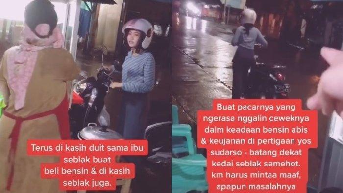 Fakta Dibalik Viral Wanita Dorong Motor karena Kehabisan Bensin dan Ditinggal Pacar, Ternyata Cuma