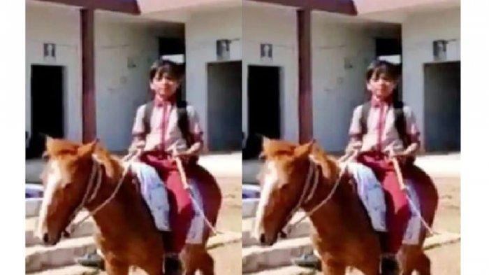 Viral Kisah Bocah Berangkat Sekolah Naik Kuda, Jarak Rumah Jauh, Sering Mengeluh Badannya Sakit