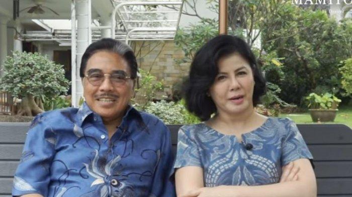 Pengacara Hotma Sitompoel dan istrinya, Desiree Tarigan.