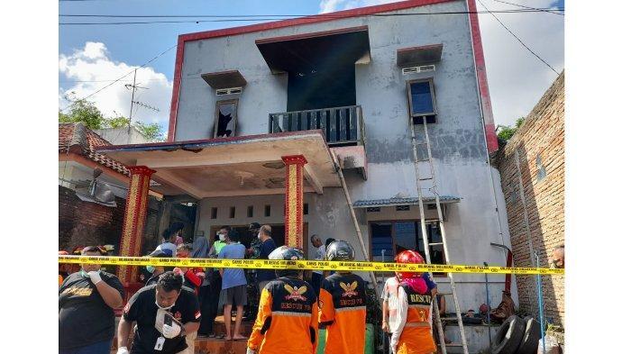 Kebakaran di sebuah Kos kosan di Gembongan, Kartasura, Sukoharjo Jumat (25/12/2020).