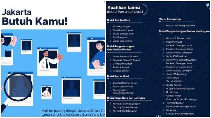 Lowongan Kerja Jakarta Smart City 2021: Ada 39 Posisi yang Ditawarkan, Simak Informasinya