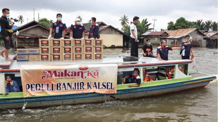 MakanKu Peduli Bagikan Makanan Cepat Saji Sehat untuk Korban Banjir Kalimantan Selatan