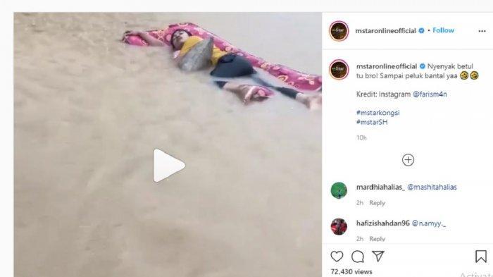 Cerita Dibalik Pria Tidur di Kasur saat Banjir yang Viral di Media Sosial: Hilangkan Penat