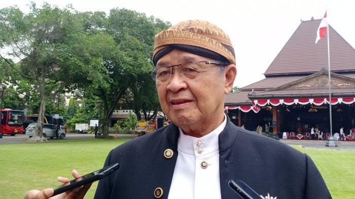 Achmad Purnomo seusai menghadiri upacara peringatan HUT ke - 276 Kota Solo di halaman Balai Kota Solo, Rabu (17/2/2021).