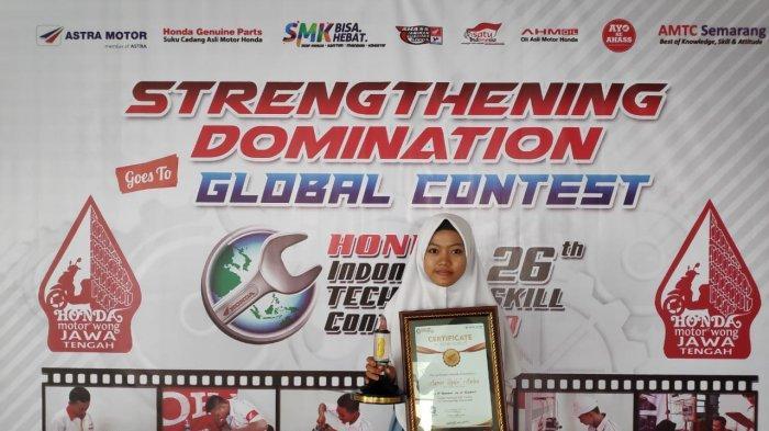 Kontes Mekanik Regional ke-26 Astra Motor Jateng, Seorang Peserta Perempuan Sukses Curi Gelar