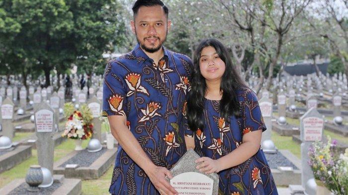 SBY Ajak Anak, Menantu Juga Cucu Ziarah ke Makam Ani Yudhoyono, AHY Hanya Ditemani Sang Putri