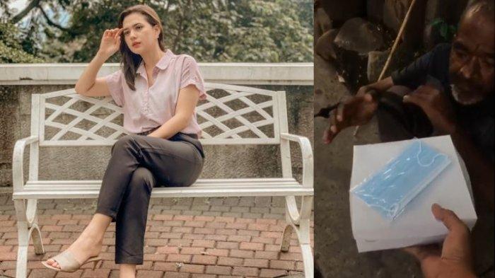 Potret Wanita Cantik Bagi-bagi Nasi Kotak di Jalanan Tuai Pujian, Ternyata Artis Ikatan Cinta