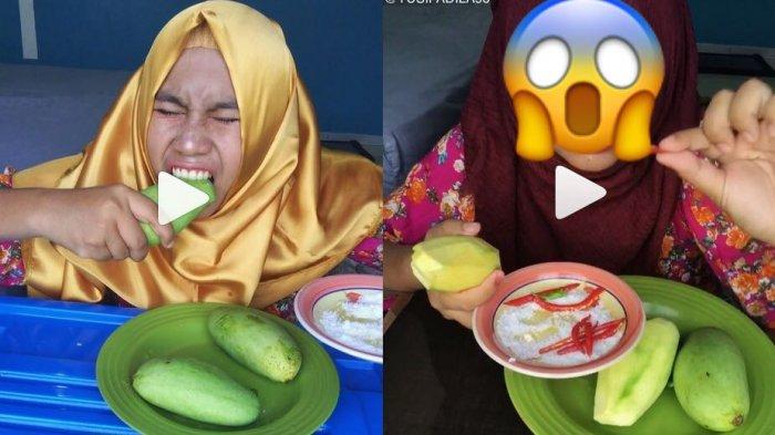 Video- Sempat Gagal saat Beri Tutorial Makan Mangga Muda, Wanita Ini Lakukan Aksi Kedua, Hasilnya?