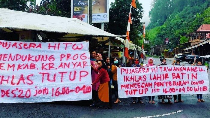 Pesan Menyentuh PKL di Tawangmangu : Ikhlas Lahir Batin Tutup Malam Tahun Baru, Demi Cegah Covid-19