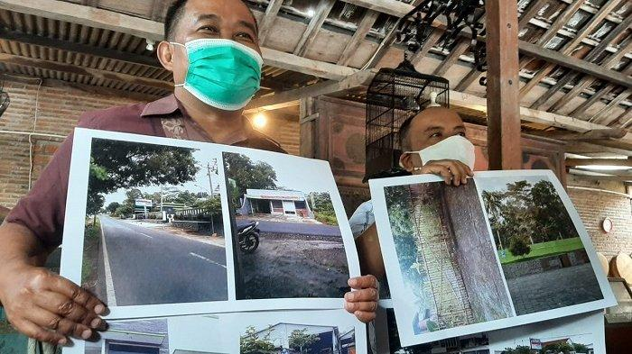 Aktivis MAKI saat membeberkan temuan soal aset tersangka PT Asabri yang tersebar di Boyolali di di Rumah Makan Ayam Goreng Toh Joyo Manahan Solo, Senin (15/2/2021).