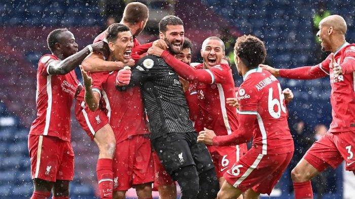Gol kemenanangan dramatis yang dicetak kiper Liverpool, Alisson Becker.