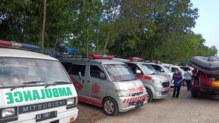 Jadi Perhatian Provinsi, Puluhan Ambulance Berdatangan Bantu Evakuasi Perahu Terbalik di Kedung Ombo