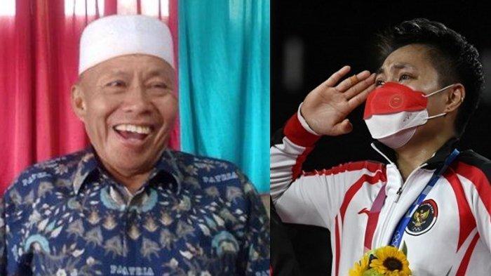Inilah Wajah Ayah Paling Bahagia di Dunia Hari ini, Anaknya Rebut Emas Olimpiade untuk Indonesia