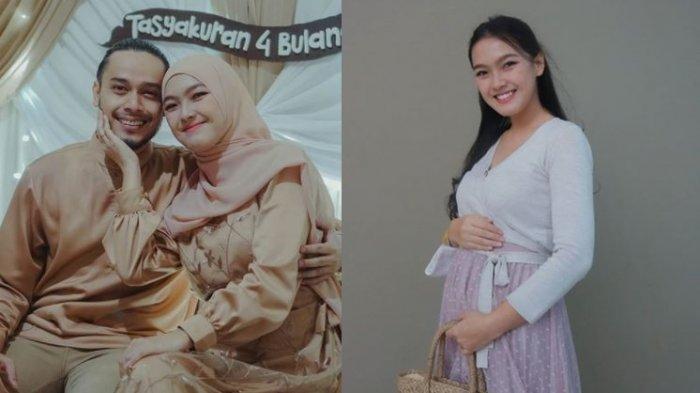 Ana Riana tasyakuran hamil 4 bulan.