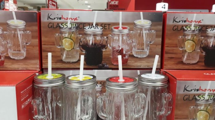 Promo Buy 1 Get Free 1 Glass Juice Jar Cactus di Centro Solo Paragon Mall
