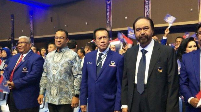Anies Baswedan Memasuki Arena Kongres Bersama Surya Paloh, Kader Partai Nasdem Bersorak Sorai