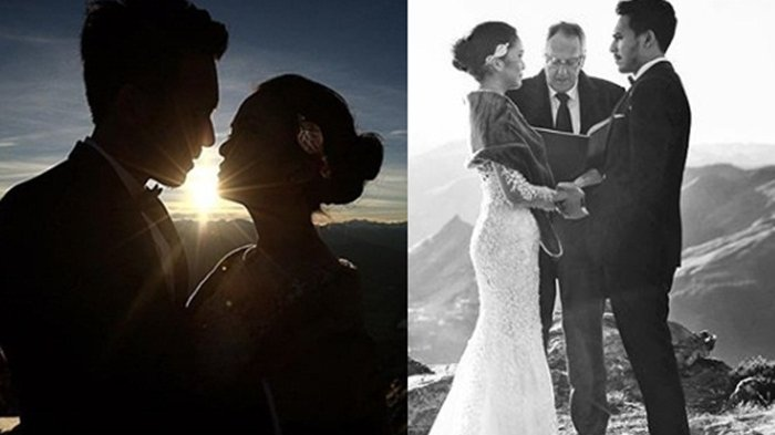 5 Tahun Pacaran, Artis Cantik Ini Diam-diam Menikah di Puncak Gunung New Zaeland