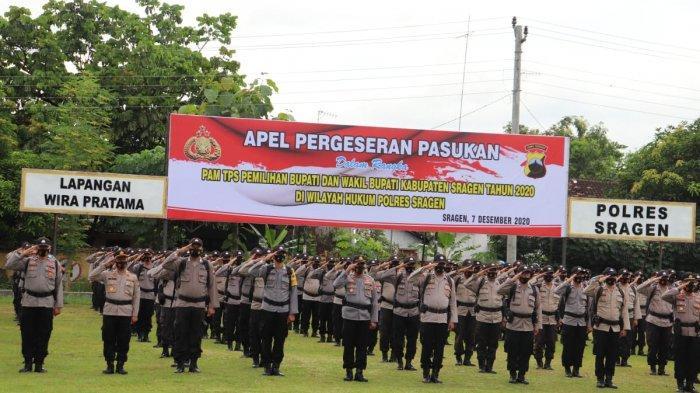 Sebar Ratusan Personel Amankan Pilkada 2020, Kapolres Sragen Yakinkan Anggotanya Bebas Covid-19