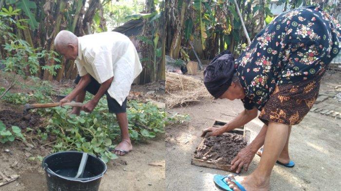 Di Usia 85 Tahun, Arjosimin dan Tukiyem Bertahan Hidup Membuat Batu Bata, Per Keping Laku Rp 250