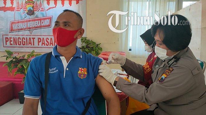 Saat Pedagang di Simo Boyolali Bingung, Disuntik Vaksin Dosis Pertama, Tanya Bagaimana yang Kedua?