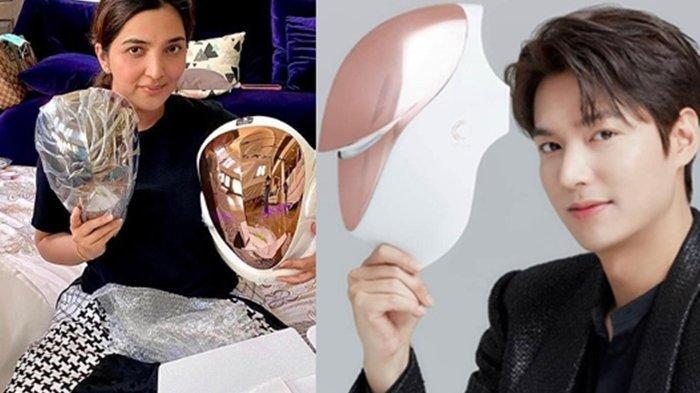 Beruntungnya Ashanty, Ngefans Berat Sama Lee Min Ho Kini Dapat Kiriman Led Mask cuma Ada 5 di Dunia