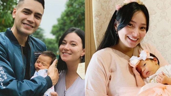 Asmirandah dan Jonas Rivanno bersama putri mereka, Chloe