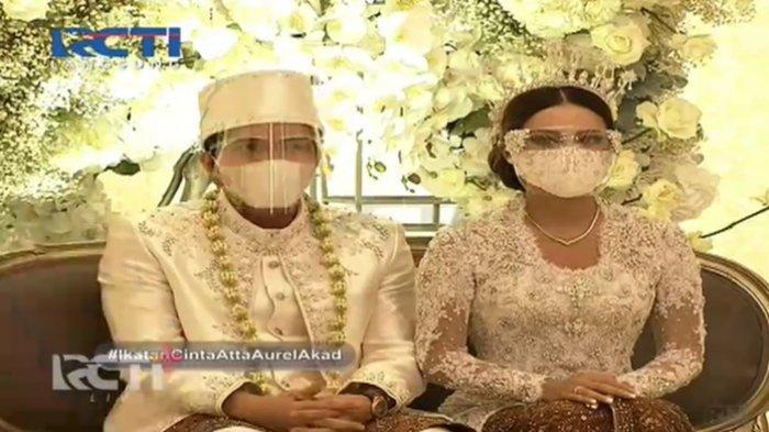 Atta Halilintar dan Aurel Hermansyah resmi nikah