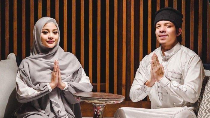 Aurel Hermansyah dan Atta Halilintar saat ucapkan selamat jalankan ibadan puasa.