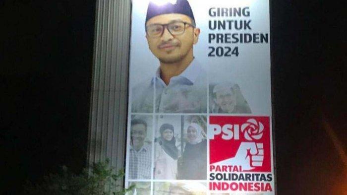 Baliho Pencalonan Presiden Giring Eks Nidji Muncul, Ketua DPD PSI Solo : Siap Ikut Keputusan Pusat