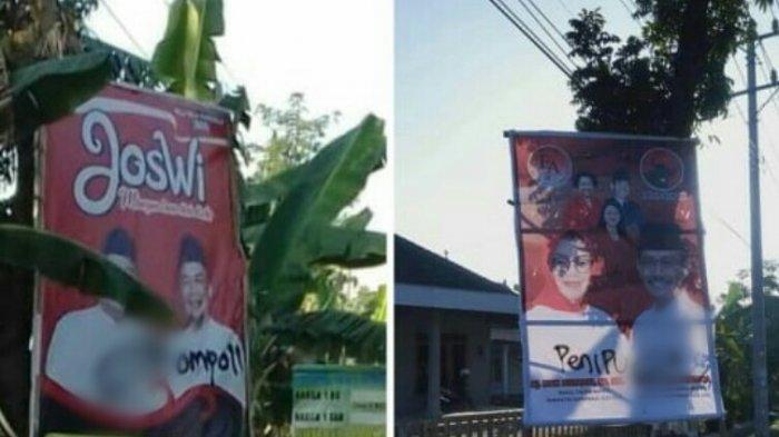 Jelang Pendaftaran Paslon Pilkada Sukoharjo 2020, Baliho Joswi dan EA Diserang Vandalisme