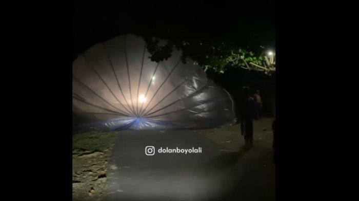 Geger Balon Udara Jatuh di Boyolali, Warga Ngaku Resah : Bakal Fatal Jika Ada Pesawat Melintas