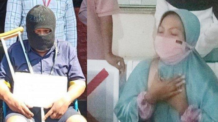 Kolose tersangka Henry Taryatmo (41) yang menghabisi 4 nyawa sekaligus saat reka ulang di Mapolres Sukoharjo, Kamis (27/8/2020). Keluarga korban mendenger putusan hakim di PN Sukoharjo, Senin (15/2/2021).