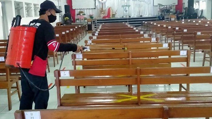 Ibadah Paskah di Klaten Boleh Tatap Muka: Digelar Terbatas Jemaat Bawa Kartu Khusus & Pakai Barcode