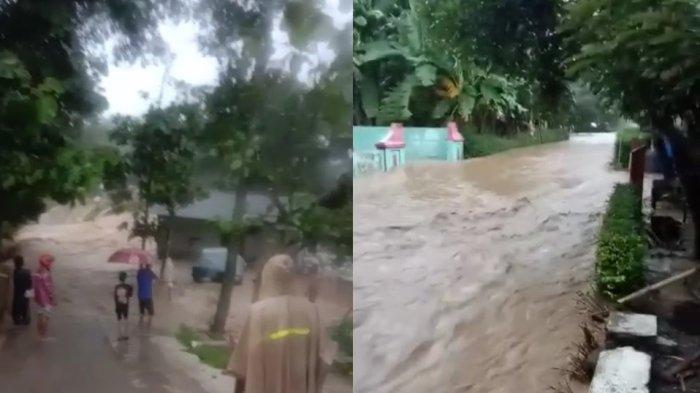 Hujan Deras, Karanggede Boyolali Banjir, Dua Anak Sempat Terseret Arus dan Berlindung di Pohon