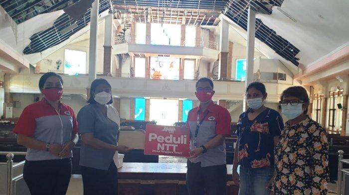 JNE Gratiskan Biaya Pengiriman Bantuan ke NTT dan Bantu Renovasi 5 Tempat Ibadah