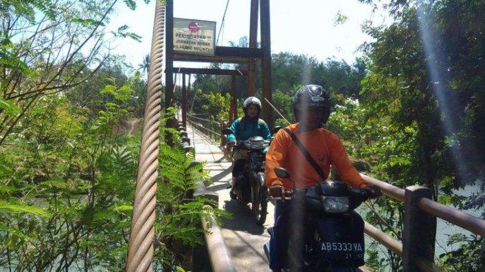 Miris. Warga Bantul Harus Bertaruh Nyawa Saat Melintas di Jembatan Sungai Opak