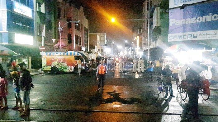 Meski Sudah Dibarikade, Masih Ada Pengendara Nekat Menerobos saat CFN di Jalan Slamet Riyadi Solo