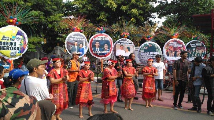 Persembahan untuk Kahiyang Ayudan Bobby Nasution,Komunitas Batak Solo Menari di CFD