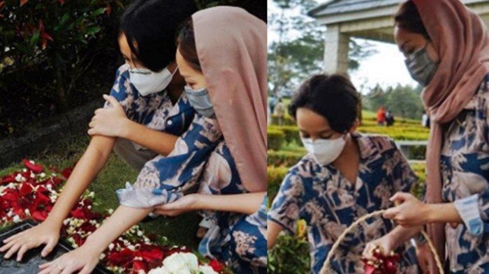 BCL Bunga Citra Lestari dan Noah Kunjungi Makam Ashraf: Ini Tidak Mudah Tapi Jangan Khawatirkan Kami