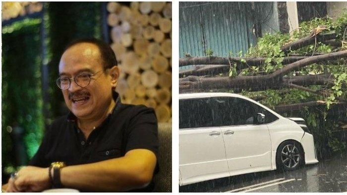 Detik-detik Mobil Ditumpangi Eros Djarot Tertimpa Pohon, Sopir Ungkap Hal Aneh Sebelum Kejadian