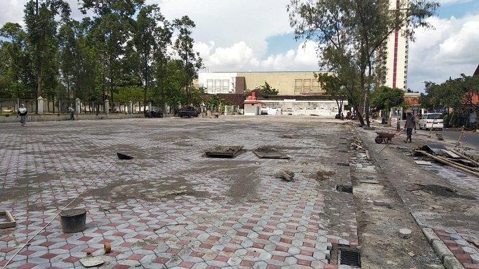 Pembangunan Pusat Kuliner di Bekas Lapangan Kottabarat Solo Masuki Tahap Akhir