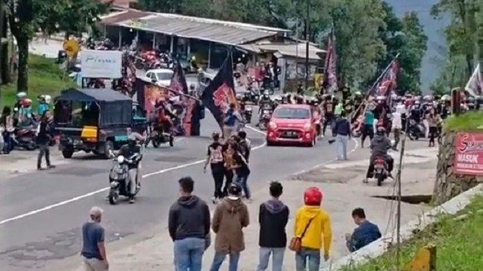 BREAKING NEWS : Blayer-blayer Pakai Motor Knalpot Brong, Pendekar Bentrok dengan Warga Tawangmangu