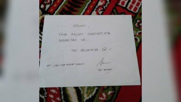 Viral Sepucuk Surat di Atas Sajadah Diduga dari Captain Afwan, Berisi Pesan Ingatkan Sholat Subuh