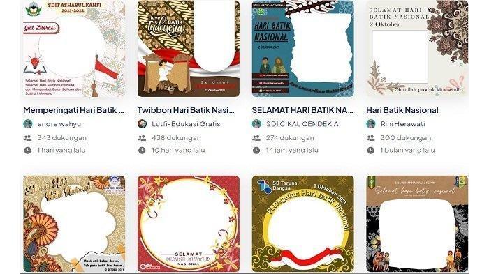 40 Link Twibbon Hari Batik Nasional 2 Oktober 2021, Cocok Dibagikan di Media Sosial