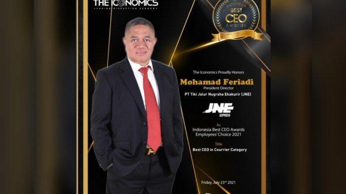 Presiden Direktur JNE, M Feriadi Soeprapto Dinobatkan Sebagai Best CEO Award 2021