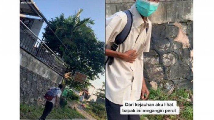 Viral Pria Tunawicara Tahan Lapar saat Berjalan, Diduga Belum Makan Seharian, Ini Kisahnya
