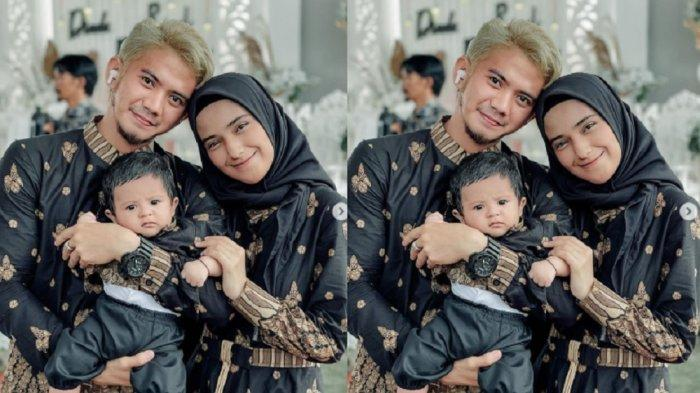 Potret perdana Rizki DA dan Nadya Mustika bareng anak.