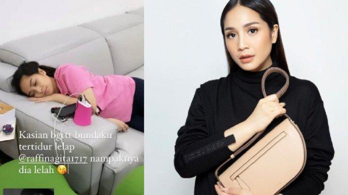 Nagita Slavina Ketiduran di Sofa, Netizen Malah Soroti Harga Sofanya yang Capai Rp 170 Juta