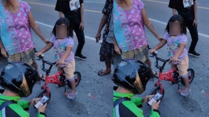 Gowes Sendirian, Bocah Klaten ini Tak Terasa Kayuh Sepeda Ciliknya 6 Km dari Rumah, Lalu Lupa Jalan