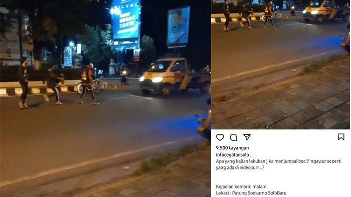 Viral Aksi Bocah Hadang Mobil di Kawasan Solo Baru Sukoharjo, Bahayakan Nyawa, Ini Tanggapan Polisi